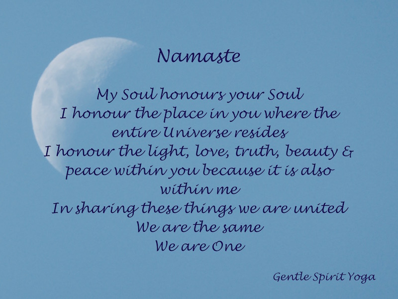Gentle Spirit Yoga Namaste